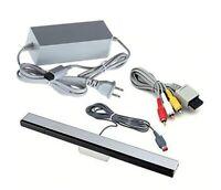 Official Nintendo Wii Complete Hookups AV Cables AC Power Cord Sensor Bar OEM