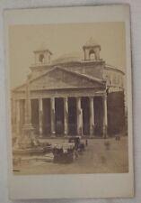 ROMA IL PANTHEON FOTOGRAFIA STORICA ROME 1870 CIRCA PHOTO PHOTOES
