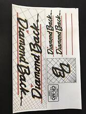 Diamondback Hot Streak Decals Sticker Set Suit Your Old School BMX Black