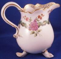 Antique Early 19thC Meissen Porcelain Floral Creamer Porzellan Kanne Milk Jug