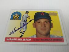 Harmon Killebrew 2001 Topps Legends 1955 Reprint Auto Twins Senators