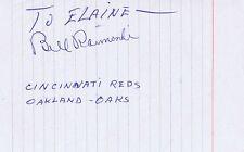 Bill Raimondi Signed Vintage Album Page JSA Oakland Oaks