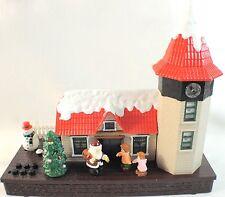 Vinatge Animated Christmas House w/ Lights & Music