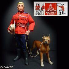 Vintage Action Man Royal Canadian Mountie & Guard Dog w/ Leaflet GI Joe