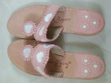 JACK ROGERS SPECIAL EDITION NANTUCKET SANDALS POWDER PINK SIZE 6