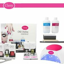 CND Shellac Deluxe Nail Gel Kit Classy 48W PRO LED Lamp 100% GENUINE FREE P&P