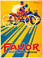 Favor Cycles Motos Vintage A2 High Quality Canvas Print