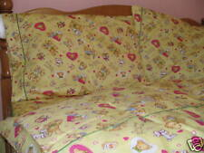 Kids Cotton Twin Size Yellow Sailboat Duvet Cover Bedding Set Windmill Bears