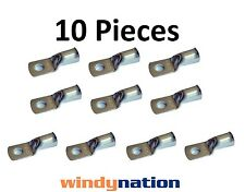 (10) 4 GAUGE 4 AWG X 3/8 in TINNED COPPER LUG BATTERY CABLE CONNECTOR TERMINAL
