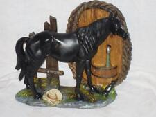"""New Black Horse Statue, 11"""" Tall, 12"""" Long, Beautiful, Resin"""