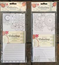 Lot Of 2 New Floral and Mandala Adult Coloring Notepads, Fun BN Planner Addicts