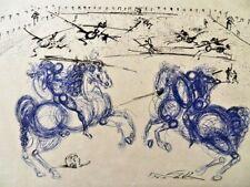 Salvador Dali Radierung original 1973 -200+ Les Cavaliers blues
