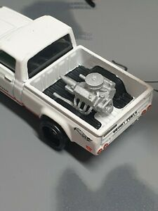 Custom 1/64 Scale V8 Engine With Pan Filter Hot Wheels Matchbox