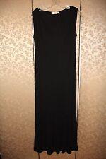 Escada Classic Black Long Midi Sleeveless V-Neck Dress Medium 8