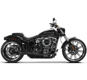 Two Brothers Comp-S 2-1 Exhaust System Ceramic Black Harley Softail 00-17