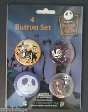 NEW Nightmare Before Christmas 4 BUTTON / PIN set