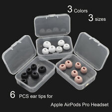6PCS Silic gel ear tips ear buds earpads eartips for Apple AirPods Pro Headset