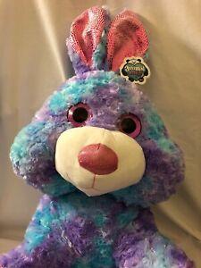 Animal Alley GIANT Bunny Rabbit Stuffed Plush Purple Pink Blue TOYS R US