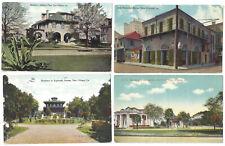 New Orleans LA 4 Antique Postcards Garden District Esplanade Audubon Houses
