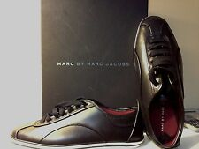 Marc by Marc Jacobs Women's Greenwich Calf Retro Fashion Sneaker (BLACK)