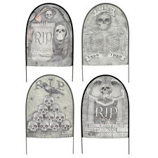 4 X Assorted Fabric Tombstones Graves Halloween Party Lawn Decoration Prop
