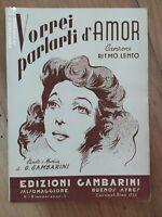 """Spartito""""Vorrei parlartiD'Amor"""" di G.Gambarini edizioni Gambarini Salsomaggiore"""