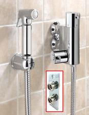 Thermostatic Bidet Douche Shower Spray Kit Chrome Muslim Wall Fixing Back Plate