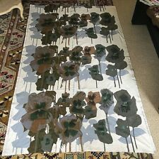 "Vintage HEALS - Howard Carter ""Pansies"" Barkcloth Cotton Fabric - 207L"