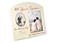 Ruby 40th Wedding Anniversary Multi Photo Picture Frame Keepsake Gift FW82940