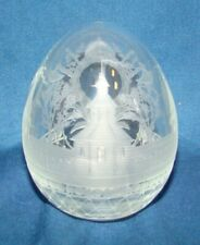 Russian Crystal Engraved Glass Egg