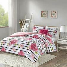 Comfort Spaces Zoe 3 Piece Comforter Set Printed Striped Floral Design with Faux