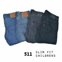 VINTAGE KIDS LEVIS 511 SLIM FIT JEANS GRADE A W24,W25,W26,W27,W28,W29,W30