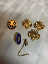 Vintage GIRL SCOUT/BROWNIE Pins