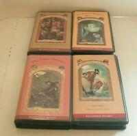 Series of Unfortunate Events Books on Cassette Lot of 4 by Lemony Snicket