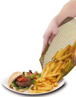 QUICKACHIPS TRAY FOR QUICK & CRISPY OVEN CHIPS - BROWN/NATURAL 33 x 33 CM