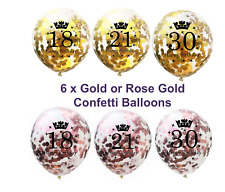 18th 21st 30th 40th 50th Birthday Party Decorations Confetti Balloons Rose Gold