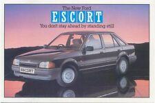 Ford Escort Ghia Original colour Postcard Pub. No. SP 1192 March 1986