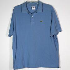 Mens Lacoste Short Sleeve Polo Shirt Light Blue Size 7 (XL) EUC