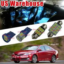 11-pc Aqua Ice Blue LED Light Interior Package Bulb Kit for Toyota Camry 12-up