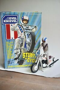 Vintage EVEL KNIEVEL - Stunt Cycle 1975 - IDEAL - with ORIGINAL BOX