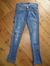 MISS SIXTY W24 L35 UK6 Damas Azul Elástico Tela vaquera envejecida Skinny Jeans