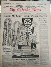 1964 The Sporting News Tommy Mercer Fort Worth Cats Baseball on Cover