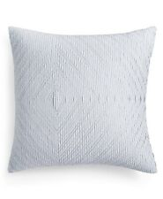 "Hotel Collection 20"" Square Decorative Pillow Diamond Stripe Blue T94036"