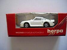 """HERPA 1:87 NEW IN BOX  """"PORSCHE 959 TURBO"""" Miniature model in white"""
