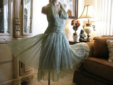 TTO65 -  Cocktail DRESS Party Prom GOWN - MEDIUM - Size 10 in Magical SAGE Glace
