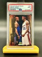 2003 Upper Deck Collectibles Lebron James Rookie/Vince Carter PSA 9 - 4 Charity