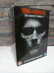 SONS OF ANARCHY - COMPLETE SERIES 1 - 7 DVD SET -  UK - FAST/FREE POSTING.