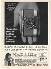 Olympus Pen EE Camera Advertisement, 1963: Original Vintage Ad