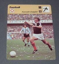 FICHE FOOTBALL 1978 KENNY DALGLISH SCOTLAND LIVERPOOL REDS ANFIELD ROAD