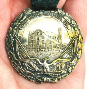 Vintage Old Mill Milton PA Belt Medal Badge Baking Flour - Chasm Robbins Co. *K7